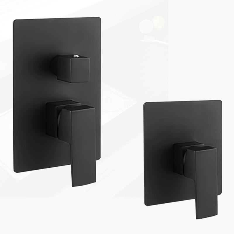 BAKALA-خلاط دش مثبت على الحائط ، صنبور دش نحاسي صلب بمقبض واحد ، أسود أو كروم ، وظيفة واحدة أو ثلاث وظائف