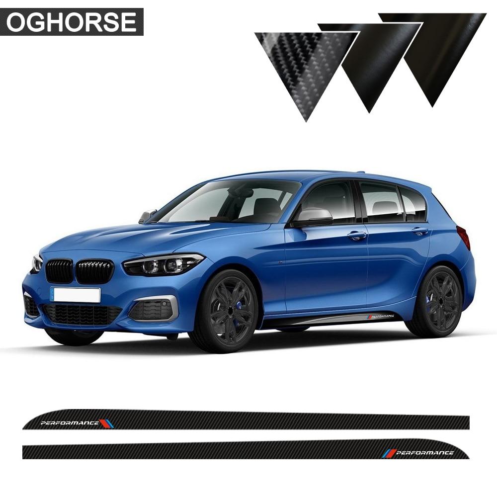 2 шт. боковые полосы подоконник юбка наклейки Наклейка M производительность M Спорт для BMW 1 серии f20 f21 118i 120i 125i 128i 135i аксессуары