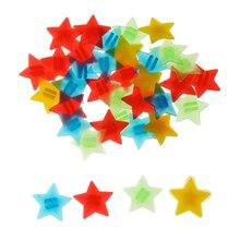 36 pièces 1.7cm coloré roue de vélo a parlé étoile perles en plastique Clip sur Spokey Dokeys vélo roue a parlé décorations pour enfants adultes
