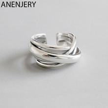 Женские кольца ANENJERY, регулируемые геометрические кольца оригинальной формы, Преувеличенные ювелирные изделия новинки S-R406