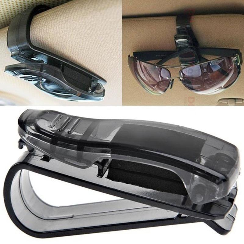 Soporte de gafas para coche Auto visor del vehículo gafas para kia cerato solaris hyundai tiguan lada kalina solaris 2017 suzuki sx4 jetta 6