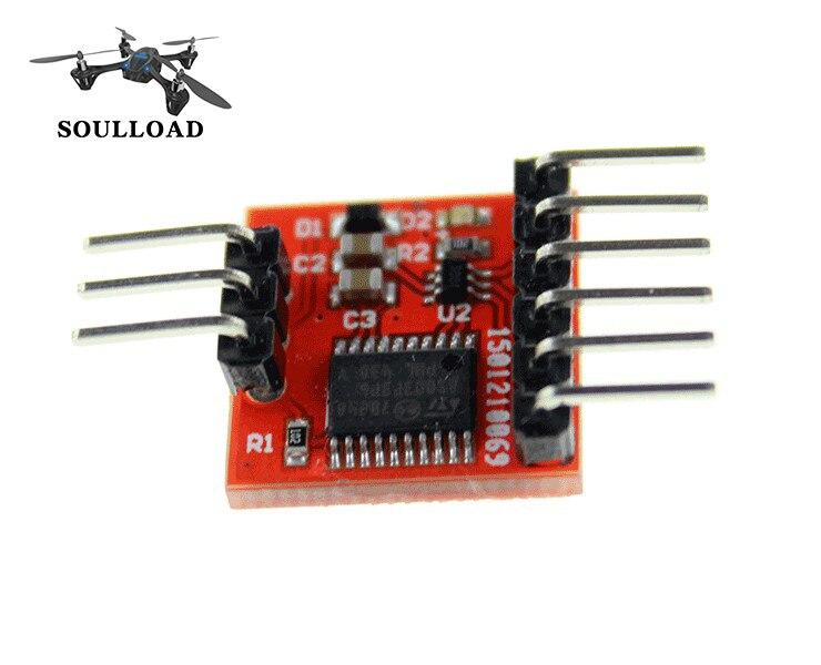 Mini Unidad de conmutación de 2 vías, módulo de conmutación de vídeo de 2 canales para FPV RC Avión Helicóptero