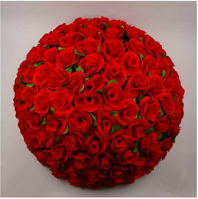 "50 CM / 20 "" Artificial Rose beijando bola de seda grande lanterna de enfeites de festa de casamento"