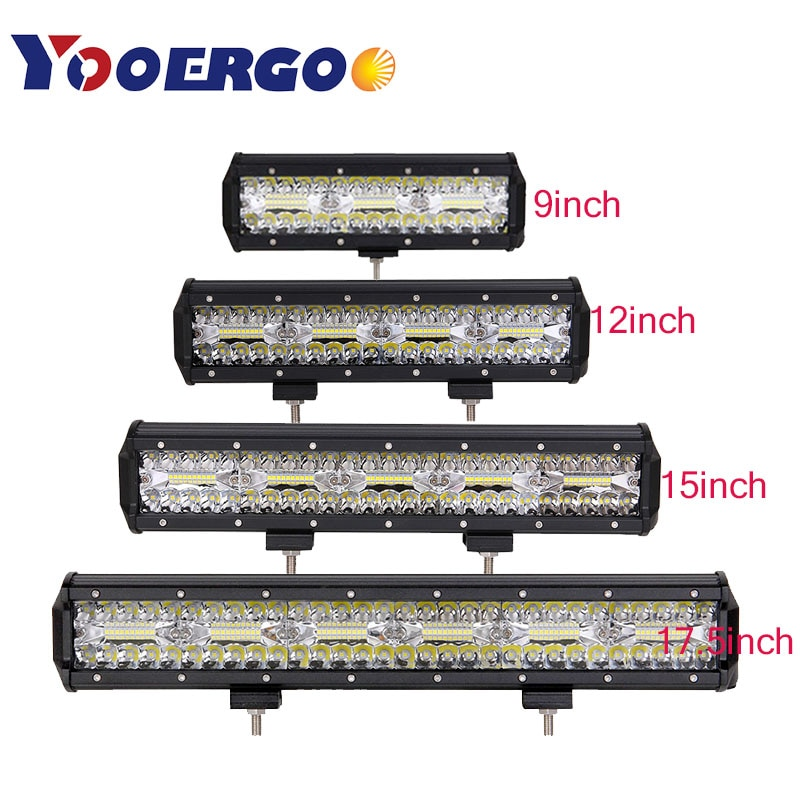 . 180W 240W 300W 360W led-arbeitslicht bar combo strahl auto Fahr licht für OffRoad lkw 4WD 4x4 UAZ motorrad rampe 12V 24V auto