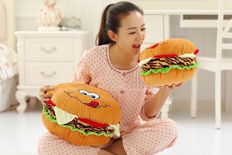 40 см, детская игрушка, подушка для гамбургера, домашнее действие, роль ofing, на вкус, супер прекрасный креативный подарок, забавная плюшевая ку...
