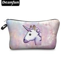 deanfun 3d printing travel cosmetic bag hot selling women brand new h53