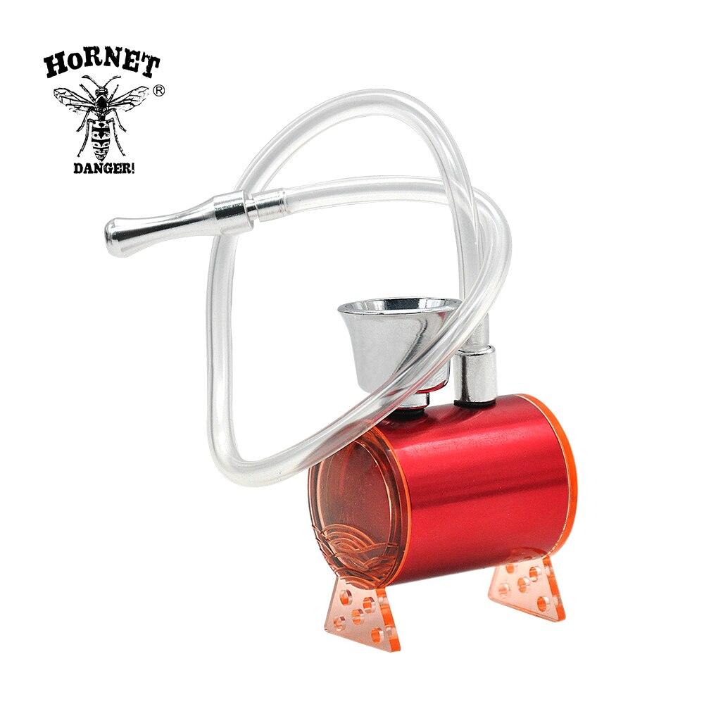 Fumadores de aluminio tubo de acrílico, tabaco fumar pipa de agua de Metal Multi-función de pipas de agua para fumar