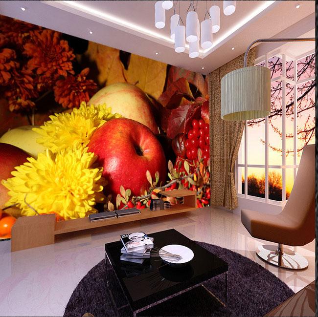 Papel tapiz de fruta grande 8d, Mural fotográfico 3d para cocina, TV, sofá, fondo con frutería, murales de pared 3d de seda, decoración de papel de pared