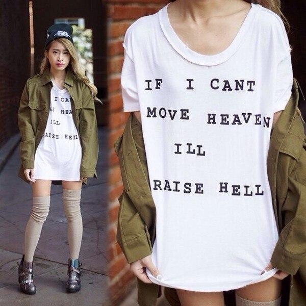 PUDO-JBH si puedo mover el cielo levantaré las citas del infierno camiseta Unisex los instrumentos mortales gráfico Tee verano Casual tee