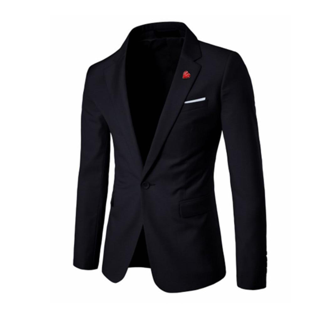 Traje Chaqueta Hombre blazer elegante Casual sólido Blazer traje de fiesta de boda homme terno masculino d90719