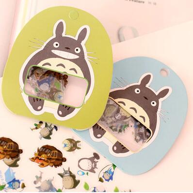 Lindo mi vecino Totoro set de pegatinas decorativas álbum diario etiqueta pegatina para álbum de recortes DIY papelería pegatinas escolares
