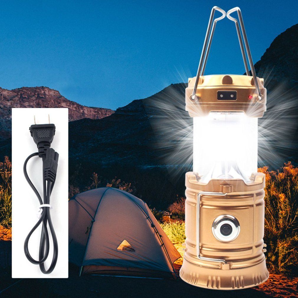 Светодиодный портативный фонарь для кемпинга на солнечных батареях
