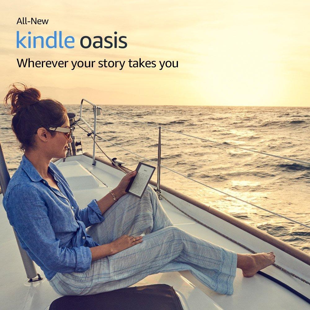 "Nuevo Kindle Oasis de 32GB, e-reader-Pantalla de 7 ""de alta resolución (300 ppi), resistente al agua, Audible incorporado, Wi-Fi"