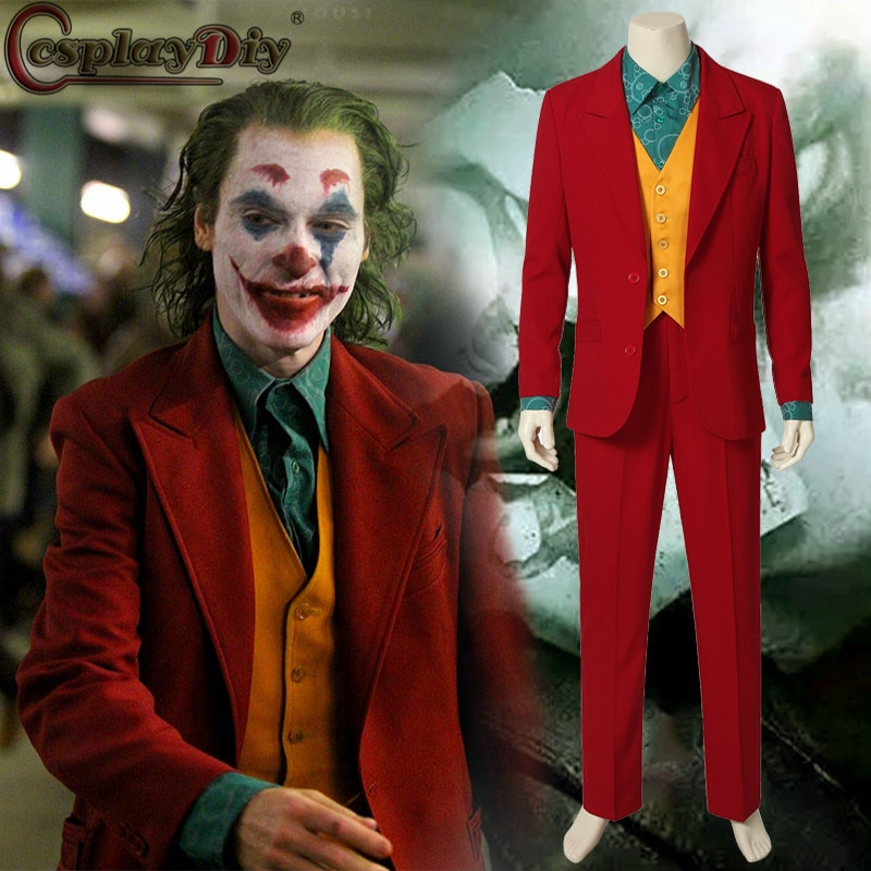 Cosplaybricolage film Joker Romeo 2019 Arthur Fleck Cosplay fantaisie carnaval Halloween Costumes Joker Costume rouge Costumes
