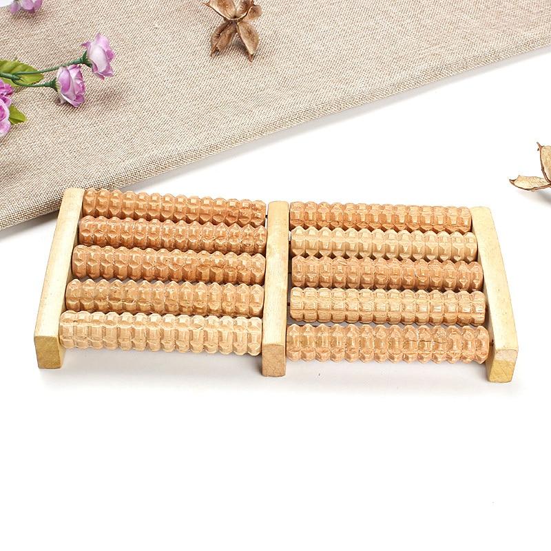 5 Rows Wheel Wood Massage Device Foot Pressure Roller Massage Instrument -35