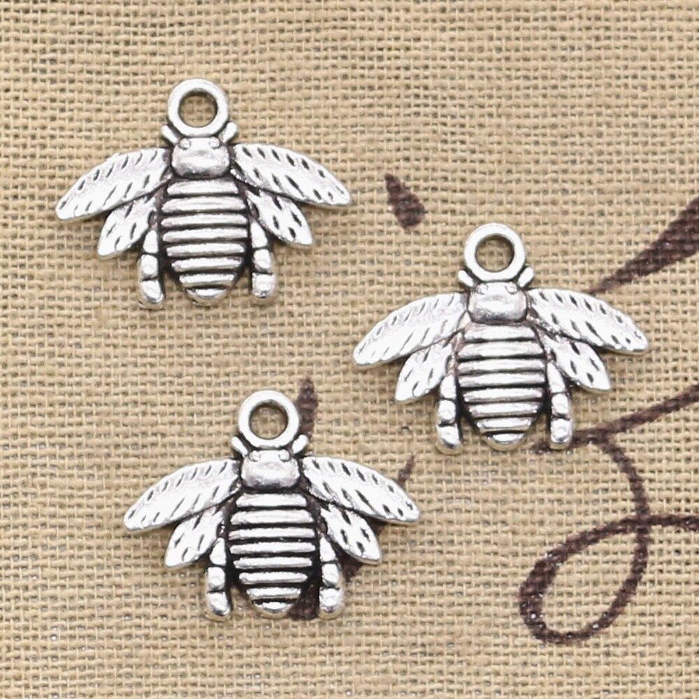 12pcs Charms Bumblebee Honey Bee 21x16mm Antique Making Pendant fit,Vintage Tibetan Bronze Silver color,DIY Handmade Jewelry