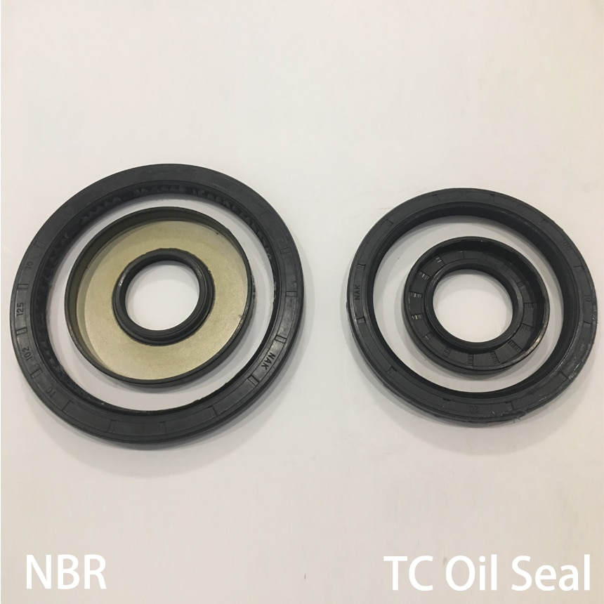 48*65*7/8/9/10/12 48x65x7/8/9/10/12 Black Nitrile Rubber NBR Two Double Lip Spring TC Ring Gasket Radial Shaft Skeleton Oil Seal