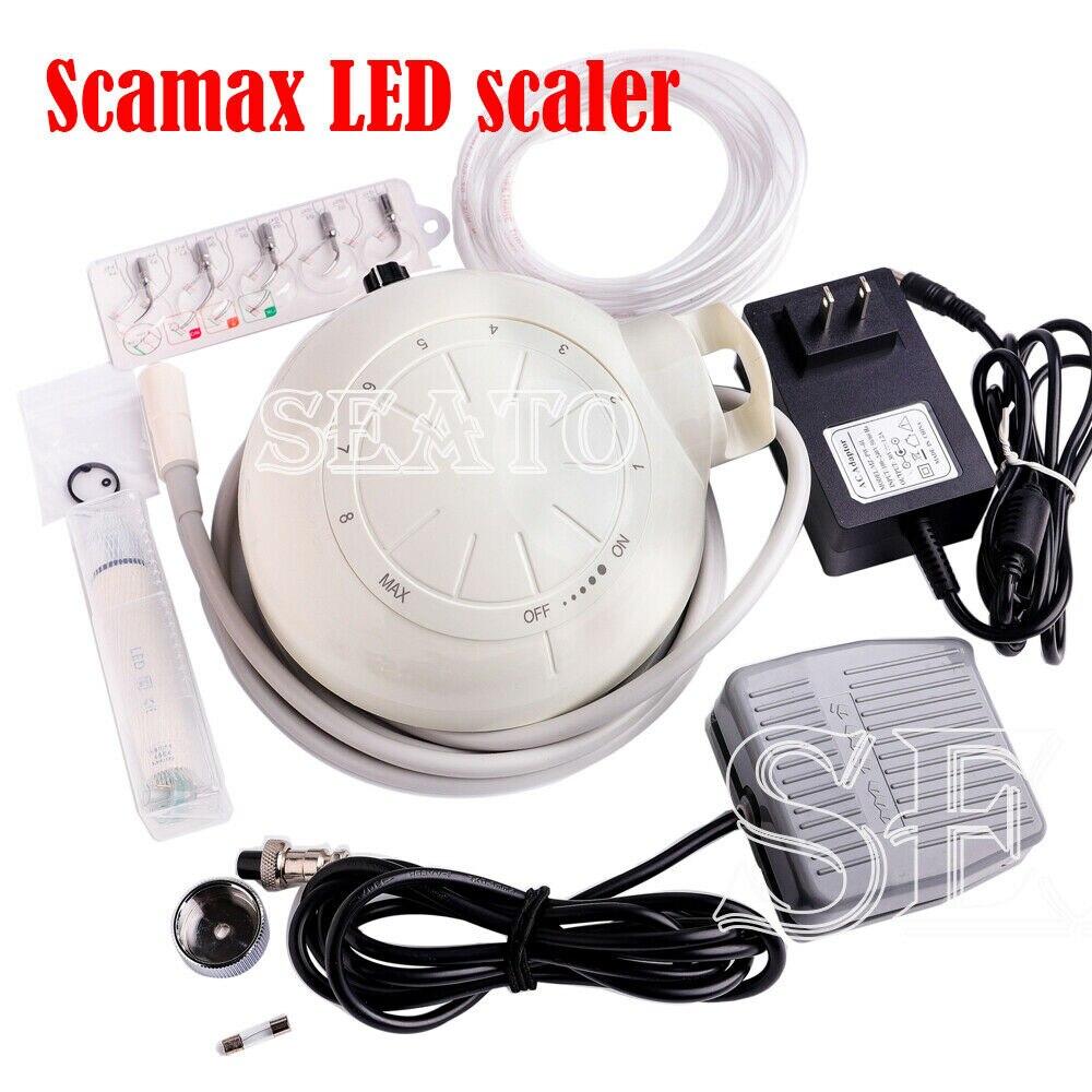 Escalador piezoeléctrico ultrasónico Dental con pieza de mano LED desmontable HE-5L LED Scamax