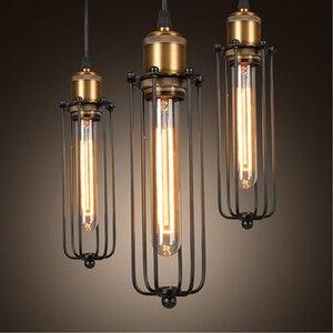 Retro Industrial DIY black iron pendant lamps Metal Ceiling Hanging Lamp Pendant light Edison Light Home Cafe shop Pendant lamps