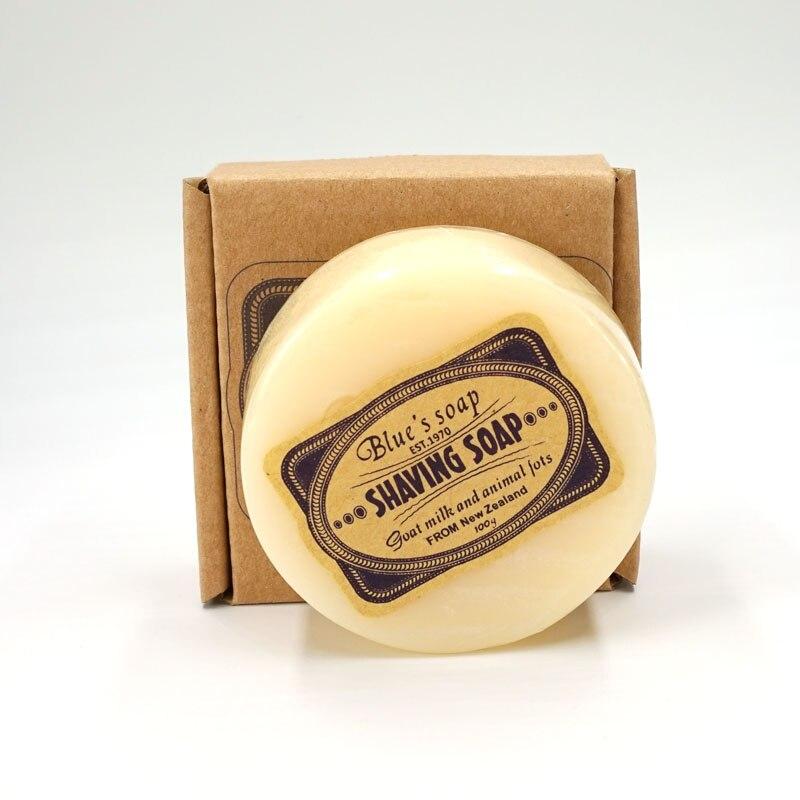 Jabón de crema para afeitar con cuentas de leche de cabra pura de 100g para hombre, jabón de espuma para afeitar para hombre