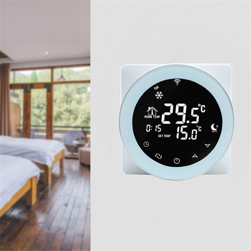 Wifi ترموستات 3A المياه التدفئة ترموستات التحكم الصوتي LCD الرقمية شاشة تعمل باللمس درجة حرارة تحكم يعمل مع اليكسا المنزل