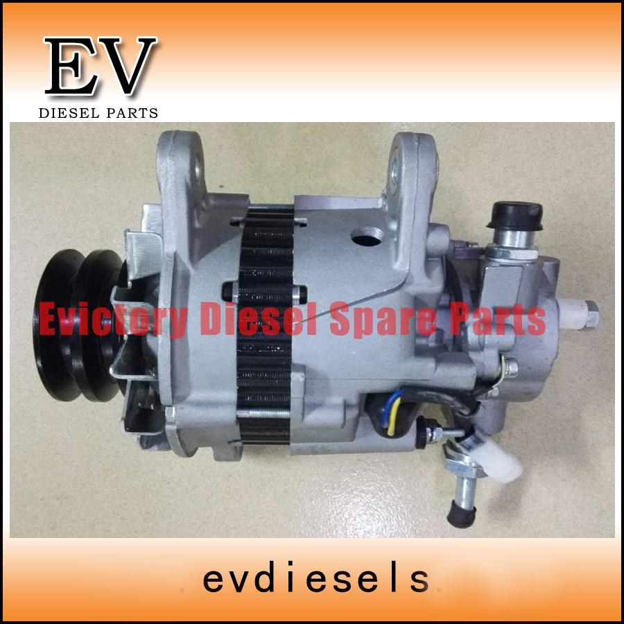 Para motor Mitsubishi 6D14 6D14T 6D16 6D16T alternador/generador con una bomba de vacío