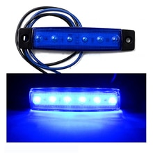 Tonewan 10pcs LED Red White Green Blue Yellow Amber Clearence Truck Bus Trailer Side Marker Indicators Light Lamp 12V 24V