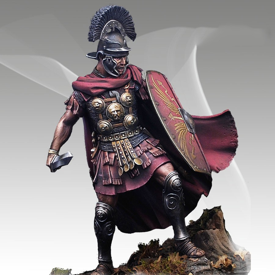 Kit sem pintura 1/28 80mm antigo centurião romano figura histórica resina kit