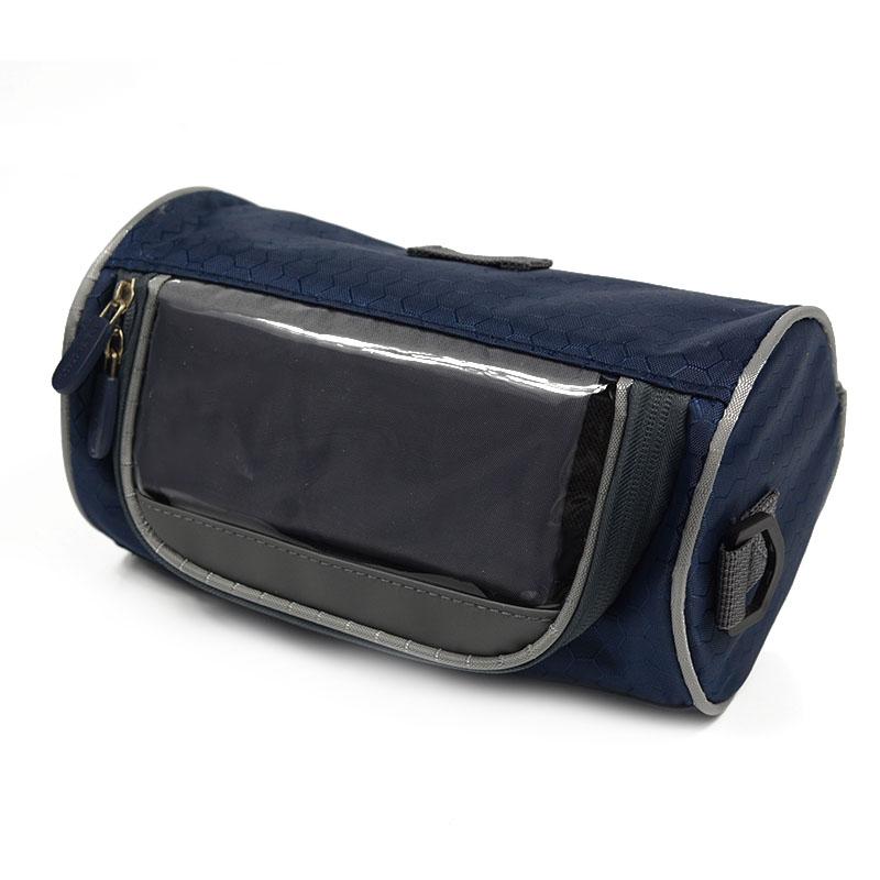 Wodoodporny Ekran Dotykowy Sakwy Rowerowe Rower Górski Rower Torby Phone Bag Case Rower Szosowy Rura Przednia Kierownica Torba Cylindra 17