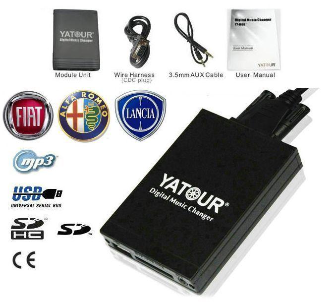 Aux USB interfaz SD MP3 jugador de cambiador de CD para Fiat/Alfa Romeo/Lancia OEM Blaupunkt unidad de Radio