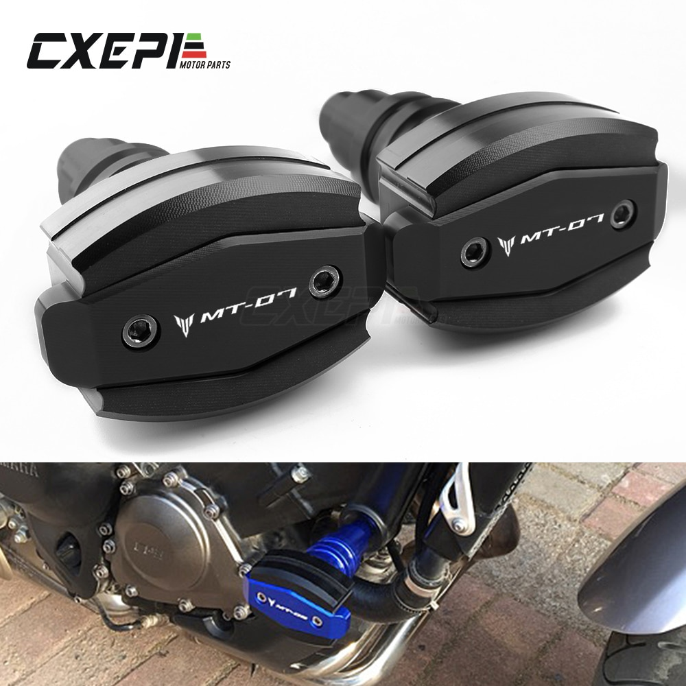 AliExpress - CNC Frame Slider Protector Guard For Yamaha MT07 MT 07 2015 2016 2017 2018 2019 2020 engine protection Sliders with MT-07 logo