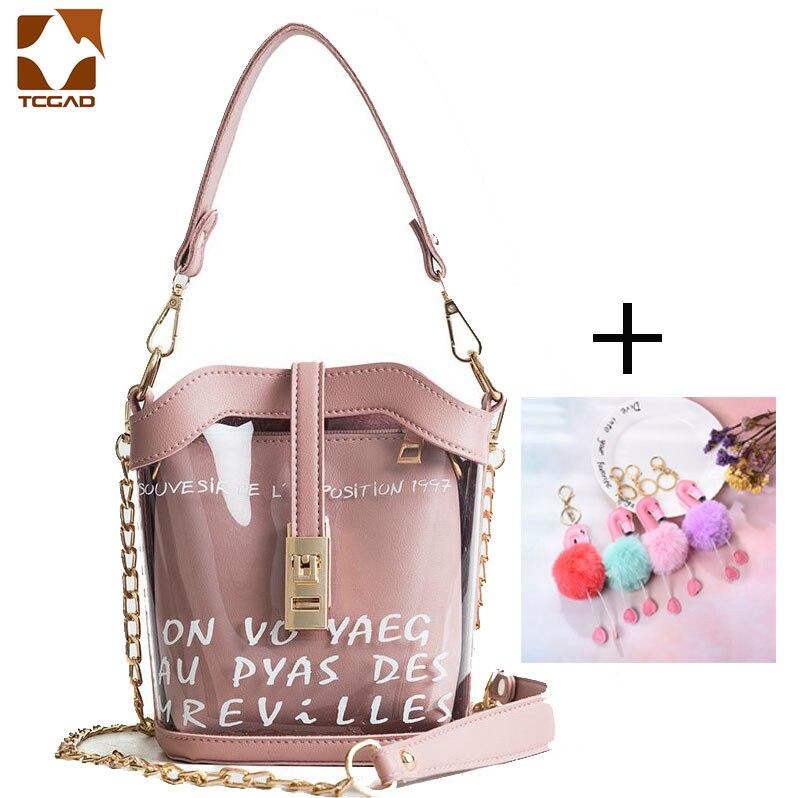Bolsa transparente para mujer, bolsa de cubo, bolsas de PVC para bolsa principal para mujer, bolsa transparente 2019 nouveau, Mujer Transparente