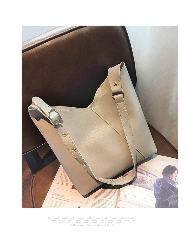 MVK 2019 Composite 2pcs Women Leather Handbag Lady Totes Messenger Crossbody Shoulder Bags Luxury Purse Bag Designer Sac a Main