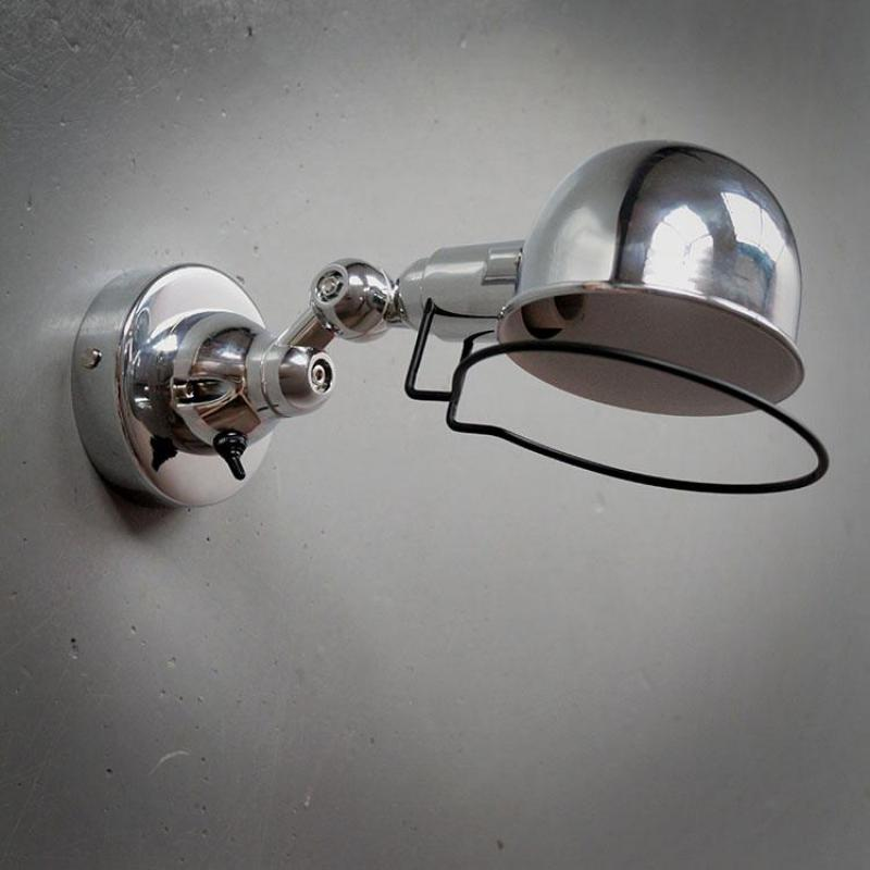 Lámpara de bar de cromo Rural, luminaria Led, lámpara de pared de hierro Retro, iluminación giratoria de EE. UU., luz de pared Industrial de país, abajur
