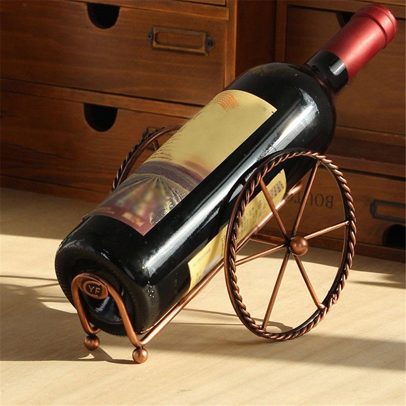 Os recém chegados retro criativo sala de estar armário do vinho decoração venda quente vinho expositor metal europeu rack vinho decoração
