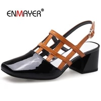 enmayer 2020 women fashion genuine leather mary janes women shoes zapatos de mujer de moda 2020 de vestir size 34 39 ly458