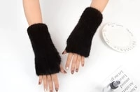 miara l wholesales mink furs furs hand knitting dew finger half finger thickens warm winter to protect the long glove wrist