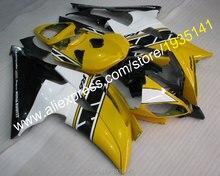 Für Yamaha Gelb Schwarz Weiß YZF600 R6 Verkleidungen Kit 2008-2016 YZF-R6 Karosserie Teile 08-16 YZFR6 (spritzguss)