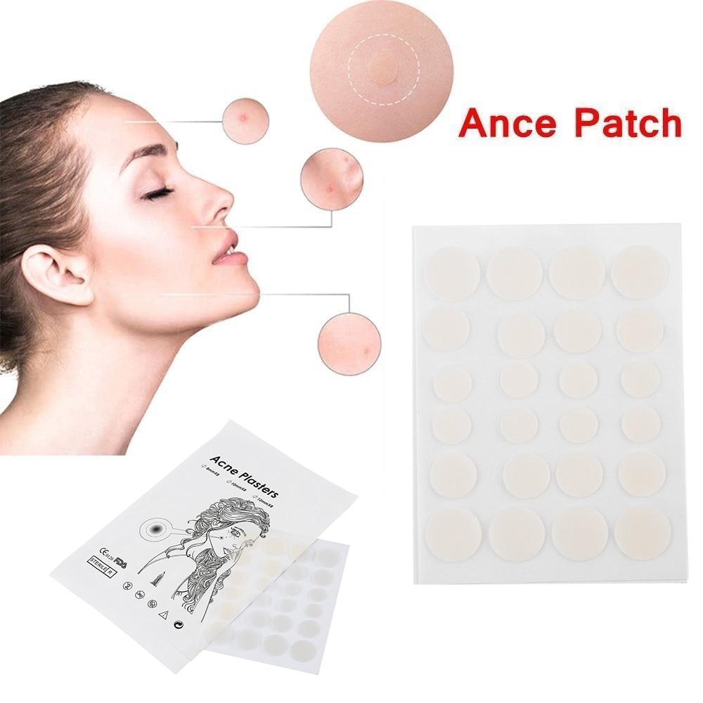 24 Uds pegatinas pequeñas para el tratamiento antiinflamatorio del acné cuidado de la piel anticicatrices que alivian el dolor Stealth Beauty parche para acné Set