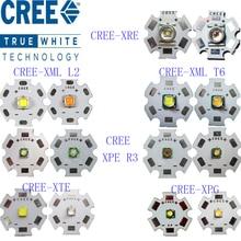 Original CREE 10W XML T6/10 W XML L2/XPE R3 3 W/XRE Q5 3 W/XTE R5 5 W/XPG2 R5 5 W/chaud froid blanc rouge vert bleu jaune