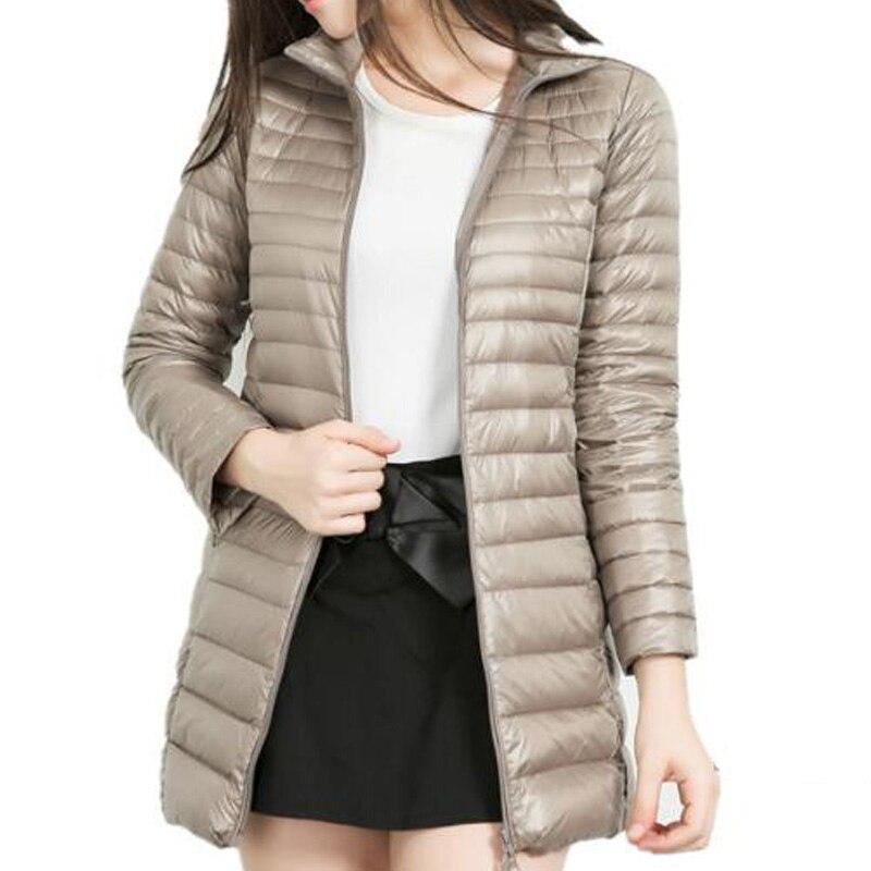 Plumífero de invierno para mujer, Chaqueta larga acolchada de algodón de gran tamaño, resistente al viento, de talla grande 5xl, chaqueta acolchada ultraligera y con volumen
