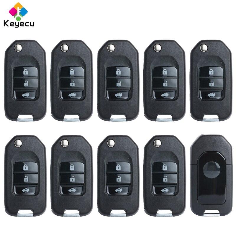 KEYECU 10PCS/Lot Replacement Universal Remote NB-Series for KD900 KD900+, 3 Buttons KEYDIY Remote Key - FOB for NB10 ATT-46