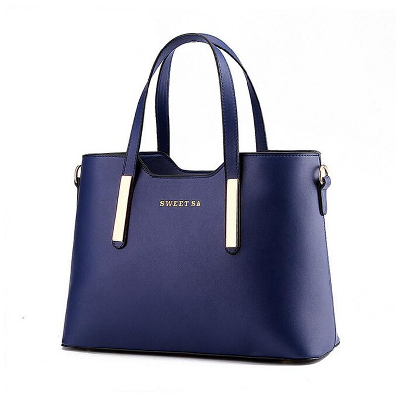 Bolsos de cuero para mujer de moda populares, bolsas de mensajero de hombro con asa superior, bolso de mano sólido para mujer de oficina, bolsa de mano para mujer, Sacola, negro, Beige, azul
