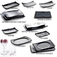 melamine dinnerware dinner plate black frost rectangle wave plate chain restaurant with melamine dish a5 melamine tableware
