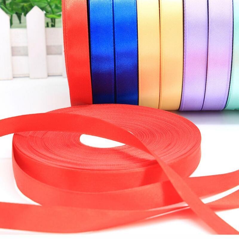 Nowy 15mm 100 jardów wstążka z organzy tkanina na odzież DIY ciasto wstążka do pakowania prezentu dekoracje ślubne taśmy wstążka zaopatrzenie firm