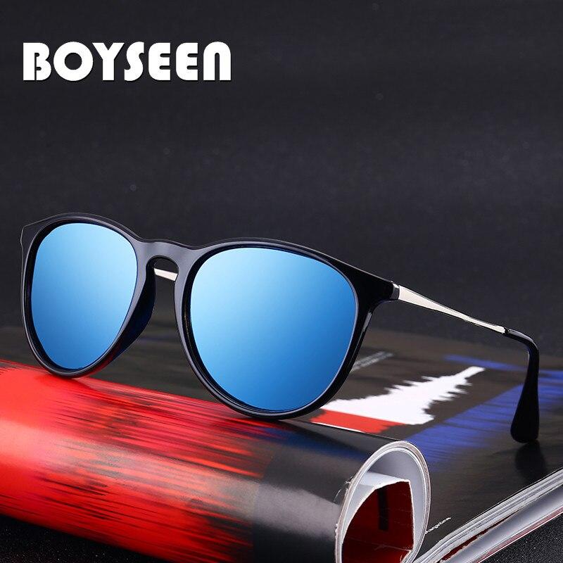 BOYSEEN gafas de sol polarizadas para hombre y mujer, gafas de sol retro tipo ojo de gato, gafas espejo de moda para mujer 4171