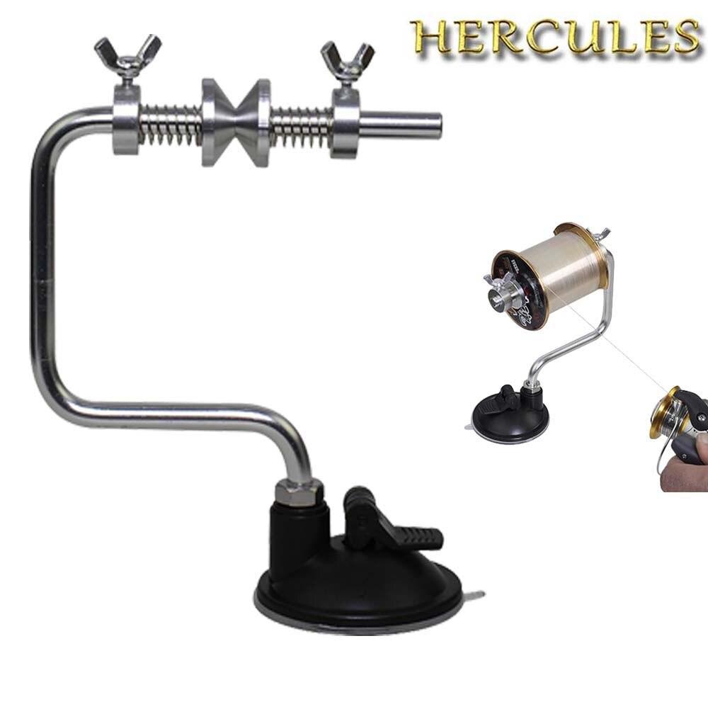 Hercules linha de pesca de alumínio portátil spooler carretel de peixe sistema dobadoura ferramenta equipamento sucção copo mar carpa acessórios pesca