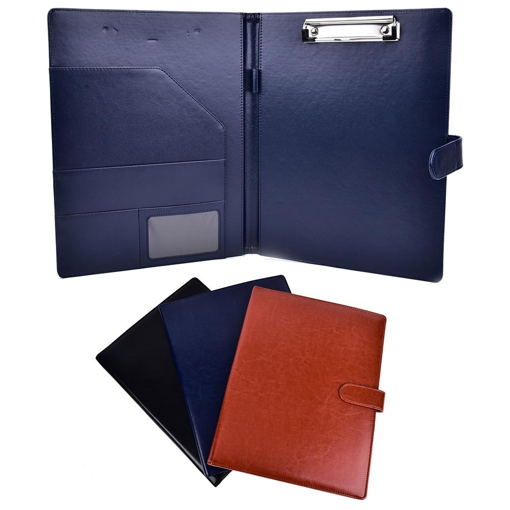 Portafolio de carpetas A4, organizador de cuero multifunción, Clip robusto de oficina, organizador, cuadernos de escritura, contrato de papel Legal
