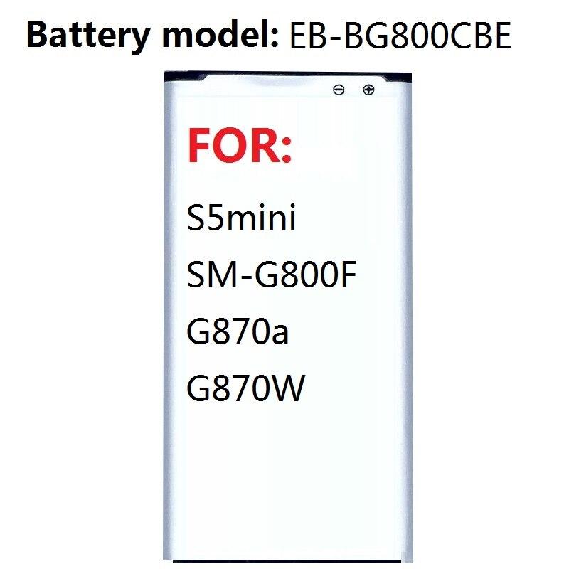 EB-BG800CBE Bateria de substituição Para Samsung GALAXY S5 mini S5MINI SM-G800F G870a G870W EB-BG800BBE 2100mAh NFC