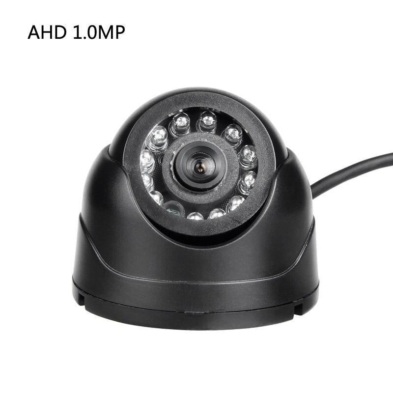 AHD 1.0MP plástico Mini cámara negro 1/3 CCD IR visión nocturna Domo cámara para vehículo barco camión Taxi vigilancia seguridad
